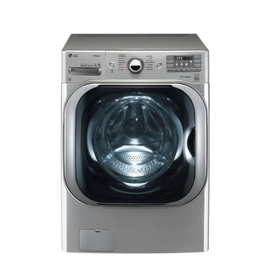 LG 5.2 Cu. Ft. High Efficiency Stackable Front Load Washer in Graphite Steel