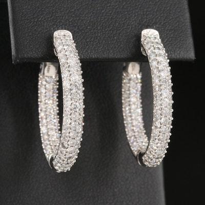 14K 3.06 CTW Diamond Inside-Out Hoop Earrings