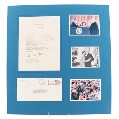 President Gerald Ford Signed White House Letter with Photo Prints on Matte
