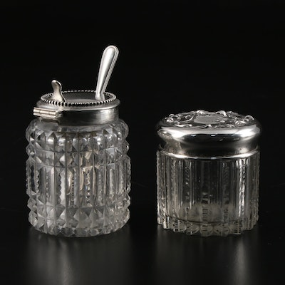 Wilcox Silver Plate Co. and Other Sterling Silver and Glass Condiment Jars