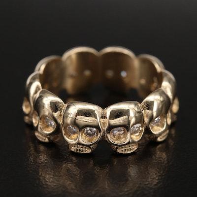 14K 0.52 CTW Diamond Memento Mori Ring