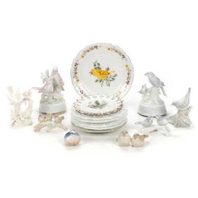 Music Boxes, Bird Figurines, and Decorative Plates Featuring Otagiri