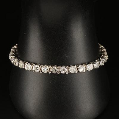 14K 9.06 CTW Diamond Half Bezel Bracelet