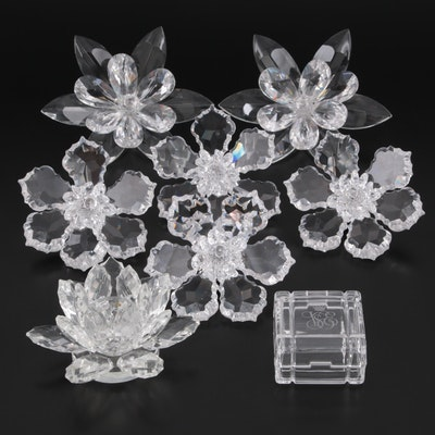 """Shannon """"Lotus"""" Candle Holder with Other Crystal Décor"""
