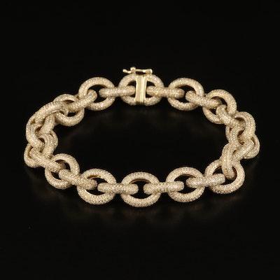 10K 10.50 CTW Pavé Diamond Link Bracelet