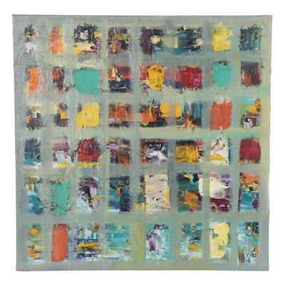 Leif Janek Abstract Acrylic Painting, 21st Century