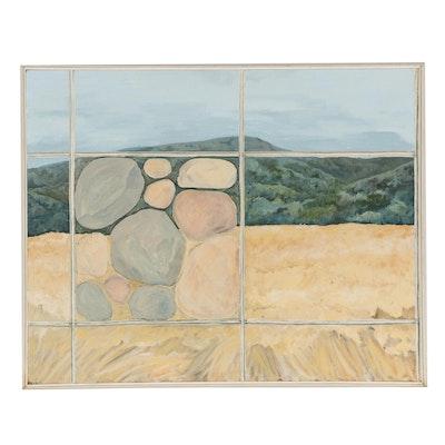 """Elsie Kay Harris Oil Painting """"Window Works,"""" 21st Century"""