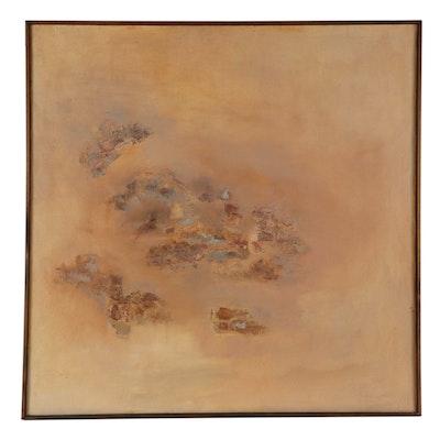 "Elsie Kay Harris Large-Scale Acrylic Painting ""Landform,"" 1972"
