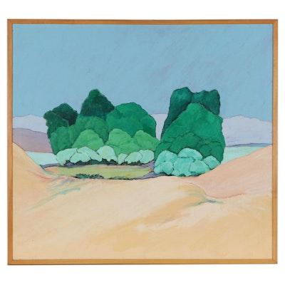 "Elsie Kay Harris Acrylic Painting ""Roy's Place,"" 21st Century"