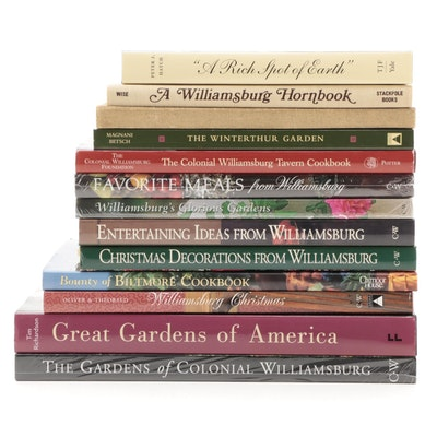 Famous American Estate Garden, Decoration, and Cookbooks, with First Editions