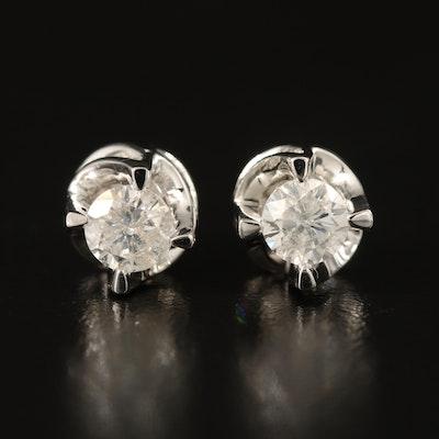 14K 1.46 CTW Diamond Stud Earrings
