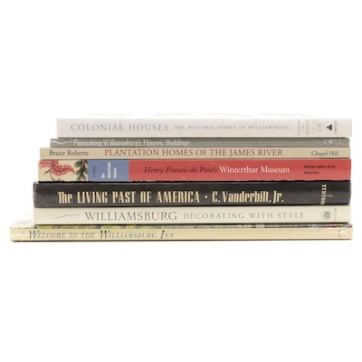 Williamsburg and Famous Estate Home Decoration Books and Guides