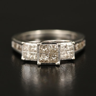 10K 1.00 CTW Diamond Past, Present, Future Ring