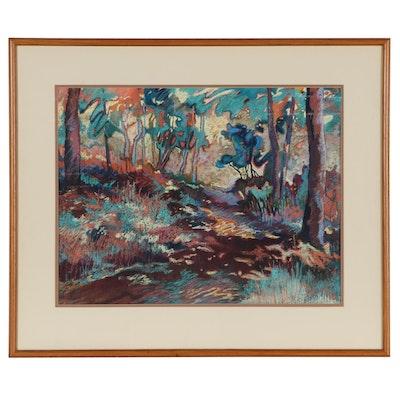 Marianna McDonald Landscape Pastel Drawing, Circa 2000