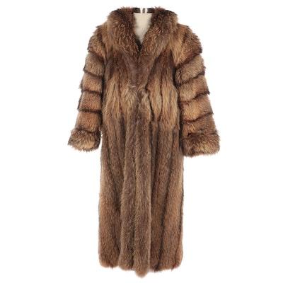 Tanuki Fur Coat from York Furrier