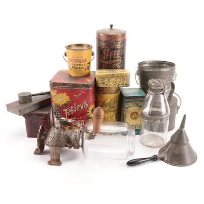 Sultana Peanut Butter, Lipton Tea, Nabisco, Other Kitchen Tins, Jars