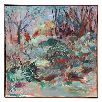 Landscape Acrylic Painting, Circa 2000