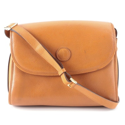 Gucci Crossbody Bag in Light Brown Pebbled Leather