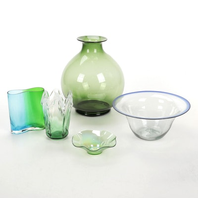 Handblown Art Glass Vases