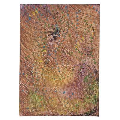 "Jacquéline Waters Oil Painting ""Illusion,"" 2021"