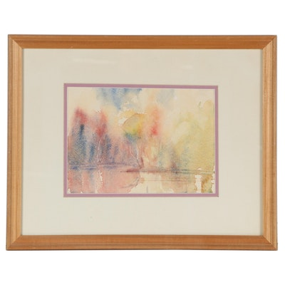 Abstract Watercolor Painting, 1991