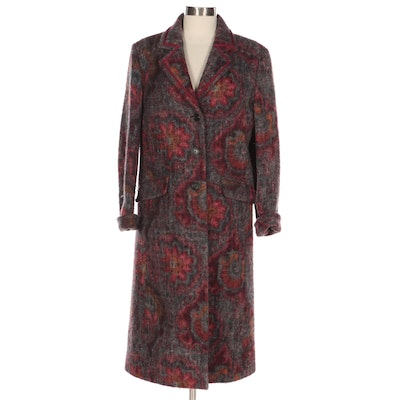 ETRO Chesterfield Coat in Multicolor Wool
