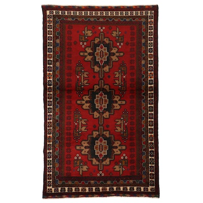 3'11 x 6'6 Hand-Knotted Afghan Area Rug