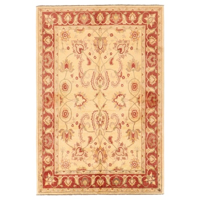 7'4 x 10'11 Hand-Knotted Turkish Oushak Area Rug