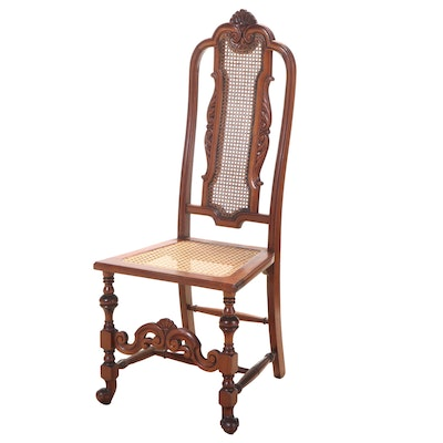 Baroque Style Carved Walnut Side Chair, Early 20th Century