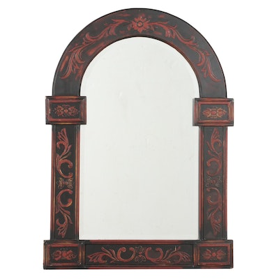 Paragon Picture Gallery Ebonized and Paint-Decorated Mirror
