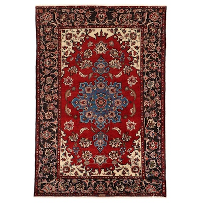 7' x 10'6 Hand-Knotted Persian Ahar Signed Area Rug
