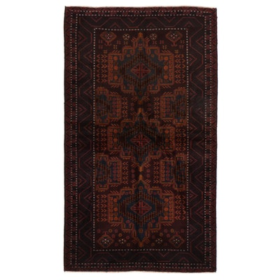 3'11 x 6'10 Hand-Knotted Afghan Baluch Area Rug