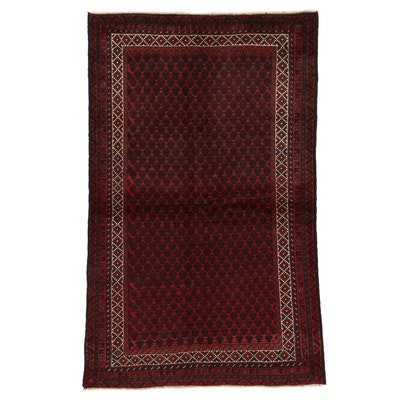 4'3 x 6'6 Hand-Knotted Afghan Turkmen Area Rug