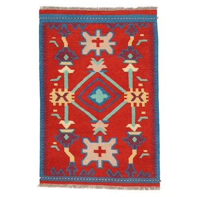 3'3 x 5'1 Handwoven Pakistani Kilim Area Rug