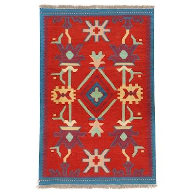 3'3 x 5'1 Handwoven Afghan Kilim Area Rug