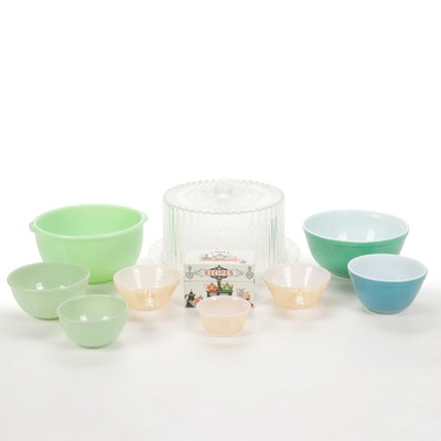 Pyrex, Fire-King and Other Glass Bakeware, Serveware and Recipe Box