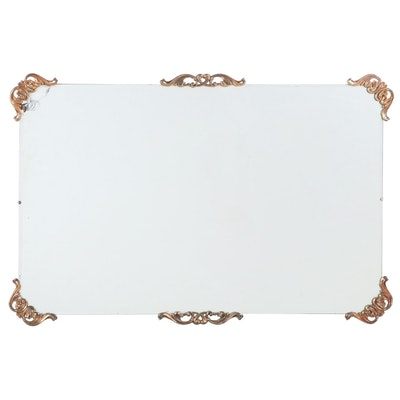 Large Beveled Wall Mirror with Gilt Metal Mounts