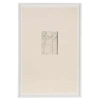 """Richard Diebenkorn Soft Ground Etching """"#1,"""" 1978"""