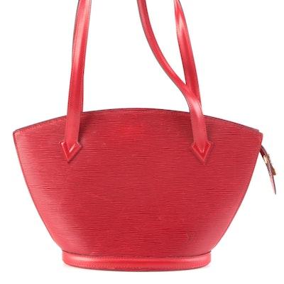 Louis Vuitton St. Jacques Shoulder Bag in Red Epi Leather
