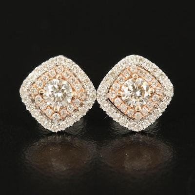 14K 1.01 CTW Diamond Earrings