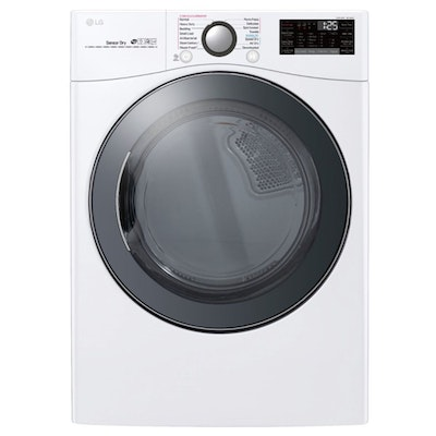 LG 7.4 Cu. Ft. Smart WiFi Enabled Electric Dryer in White