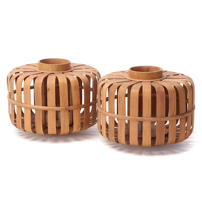 Bentwood Basket Stave Table Lamps