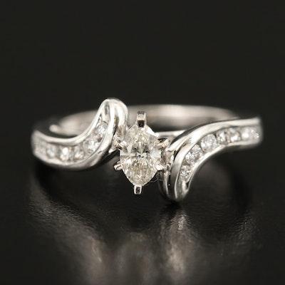 14K Diamond Ring with 0.30 CT Center Diamond