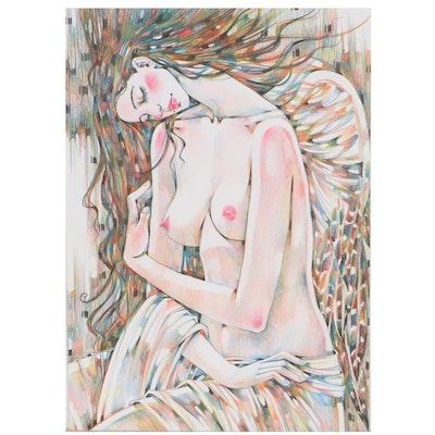 Maria Ramazanova Stylized Colored Pencil Drawing