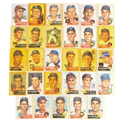 1953 Topps Baseball Cards with Satchell Paige #220