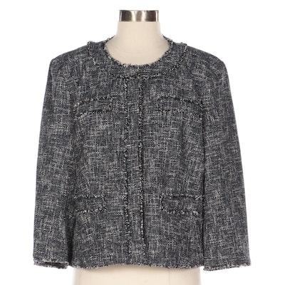 MICHAEL Michael Kors Cotton Blend Bouclé Tweed Jacket