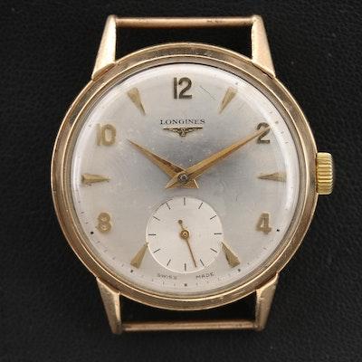 9K Longines Stem Wind Wristwatch, Circa 1953