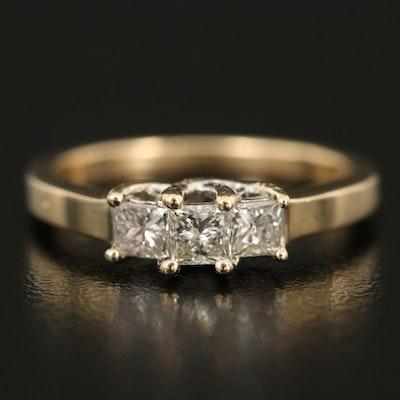 14K 0.35 CTW Diamond Three Stone Ring