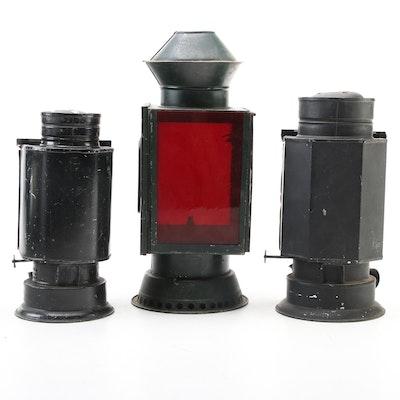 Rochester Optical Co. and Peerless Darkroom Kerosene Lanterns, Antique