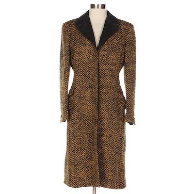 Gianni Versace Couture Bouclé Wool Mohair Tweed Coat